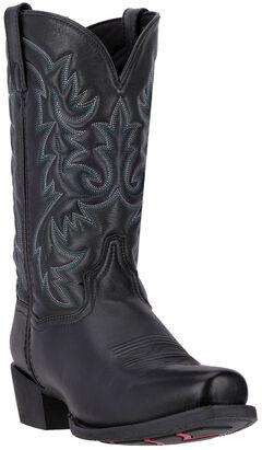 Laredo Bryce Cowboy Boots - Square Toe , Black, hi-res