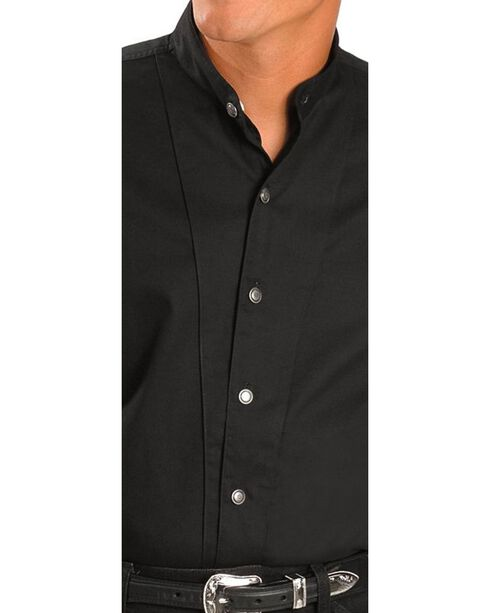 Cumberland Outfitters by Ely Banded Collar Shirt, Black, hi-res