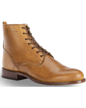 El Dorado Men's Tan Leather Urban Lacer Boots - Round Toe, Tan, hi-res