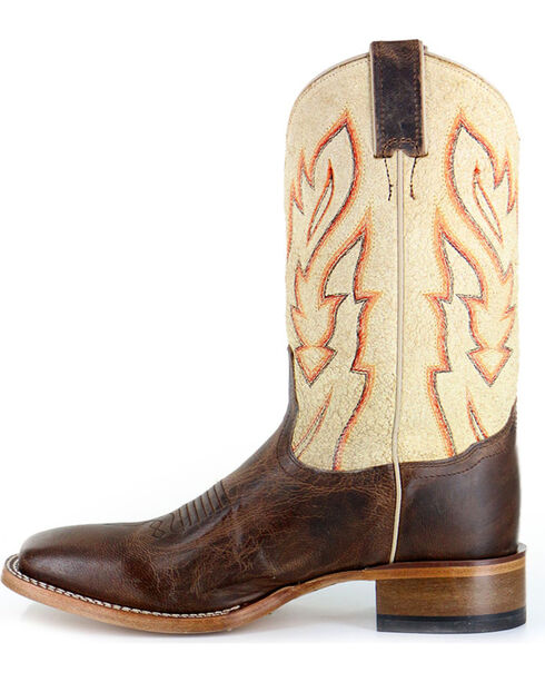 Cody James Men's Vaquero Bone Western Boots - Square Toe, Brown, hi-res