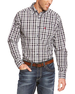 Ariat Pro Series Smithfield Plaid Western Shirt, White, hi-res