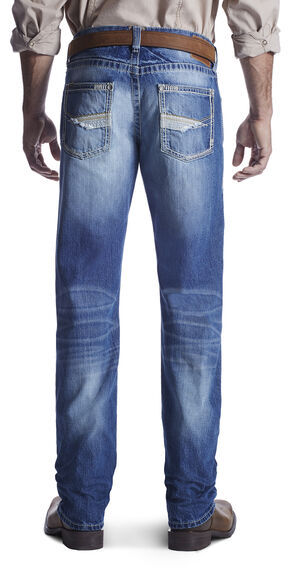 Ariat Men's M5 Rogue Dakota Straight Leg Jeans, Med Blue, hi-res