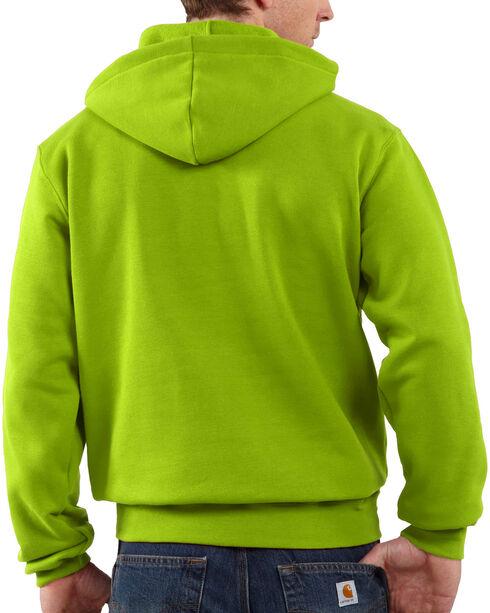 Carhartt Men's Green Midweight Hooded Logo Sweatshirt , Green, hi-res