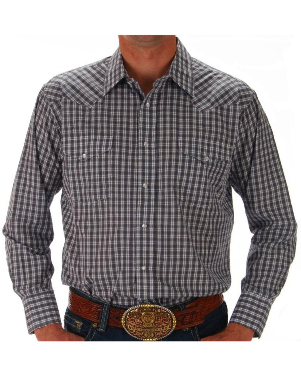 Panhandle Men's Plaid Snap Down Western Shirt - Assorted Colors, Multi, hi-res