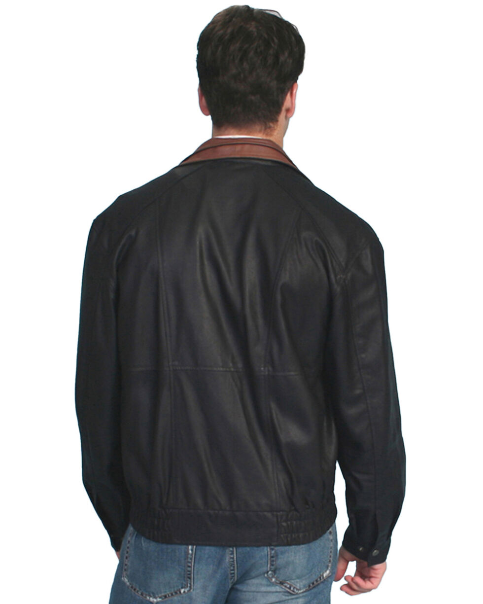 Scully Double Collar Leather Jacket - Tall, Black, hi-res