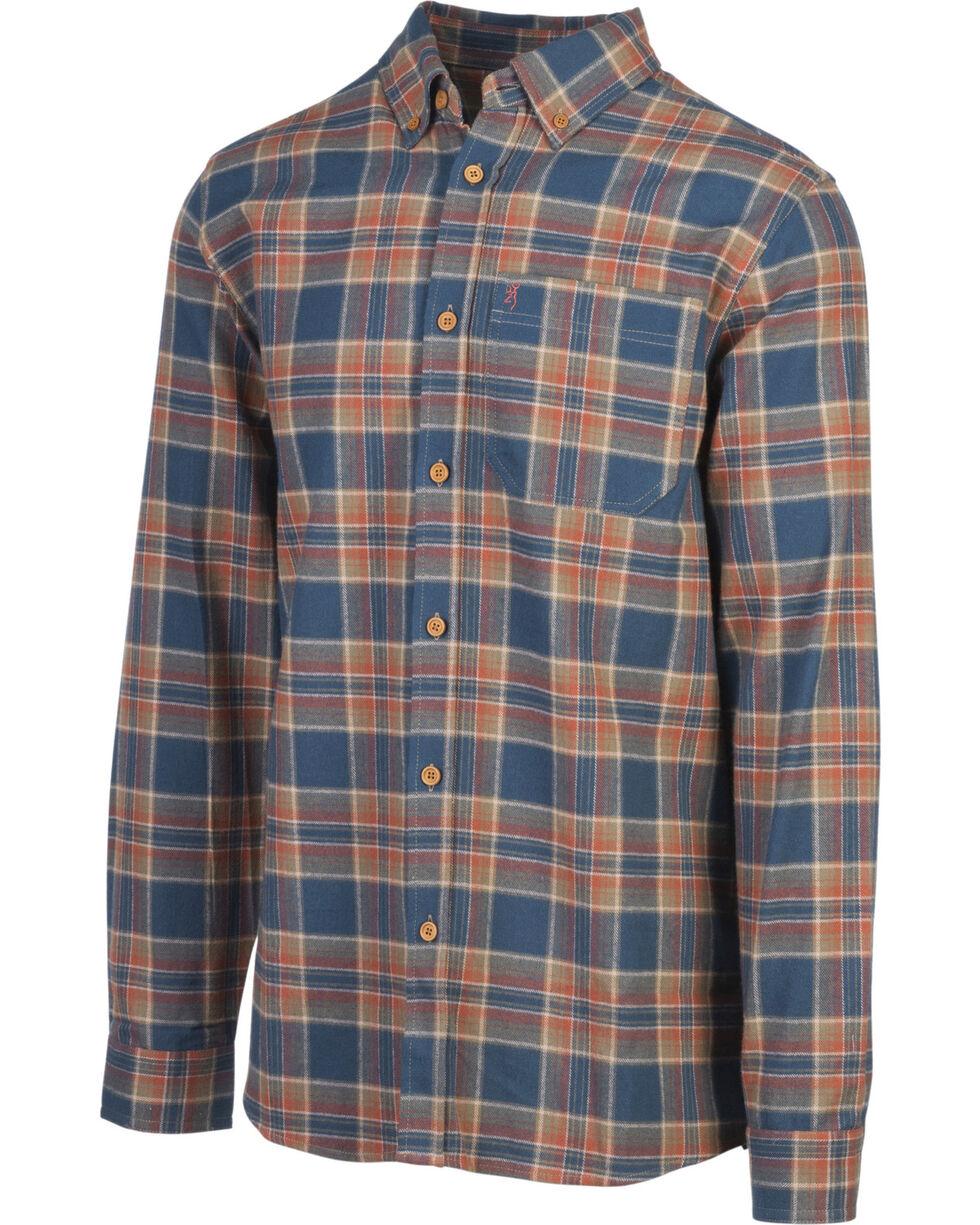 Browning Men's Blue Crawford Flannel Shirt , , hi-res