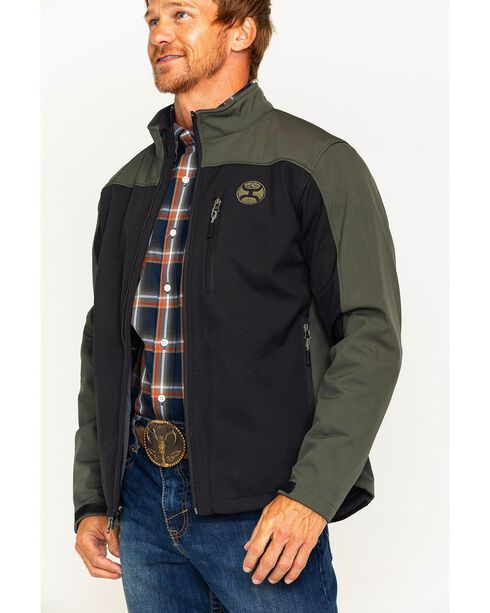 Hooey Men's Black 2 Tone Fleece Lined Jacket , Black, hi-res
