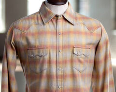 Ryan Michael Men's Melange Plaid Shirt, Gold, hi-res