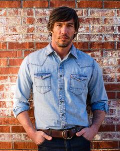 Ryan Michael Men's Indigo Apache Shirt , Indigo, hi-res