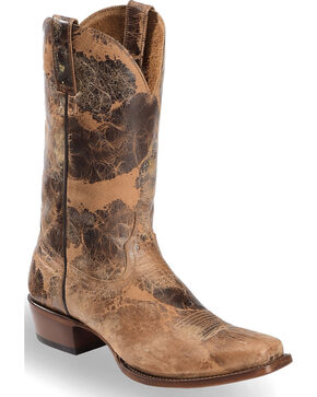 Moonshine Spirit Men's Wild West Road Tan Boots - Square Toe, Brown, hi-res