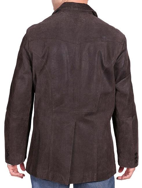 Cody James Men's Blazer - Long, Dark Brown, hi-res