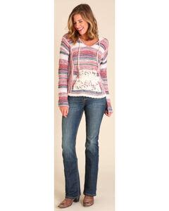 Wrangler Women's Pink Blanket Hoodie, Multi, hi-res