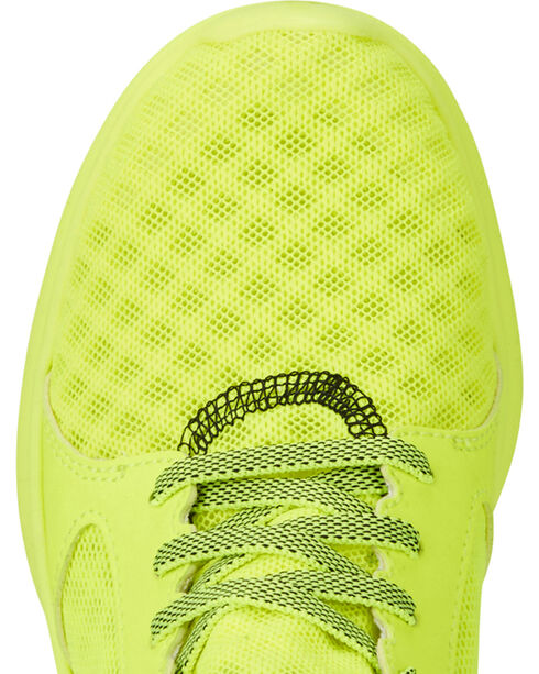 Ariat Boys' Fuse Neon Yellow Mesh Shoes, Yellow, hi-res