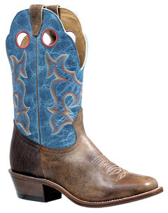 Boulet Damasko Taupe Roughstock Cowboy Boots - Square Toe, , hi-res