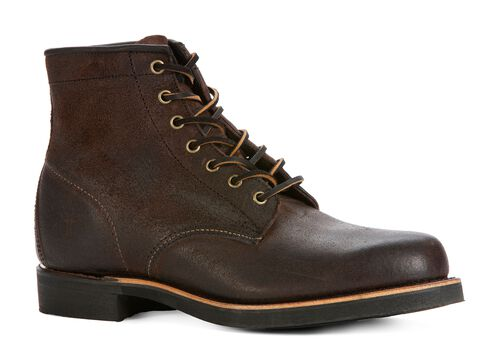 Frye Men's Arkansas Mid Lace Boots - Round Toe, Brown, hi-res