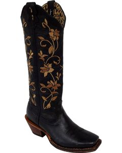 Twisted X Steppin' Out Floral Embroidered Cowgirl Boots - Square Toe, , hi-res