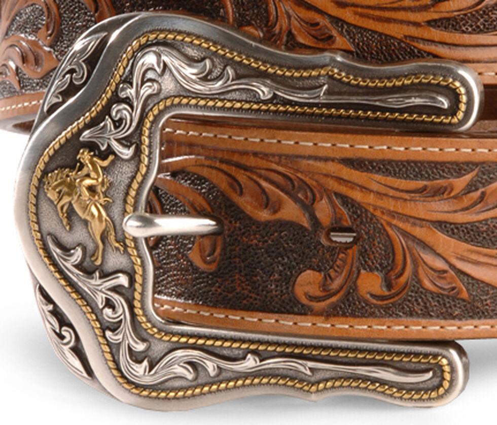 Tony Lama Westerly Ride Leather Belt - Reg & Big, Tan, hi-res