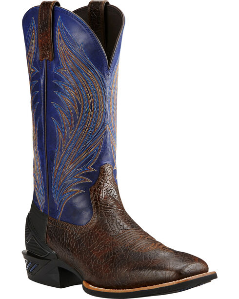Ariat Glazed Twilight Catalyst Prime Cowboy Boots - Square Toe, Bark, hi-res
