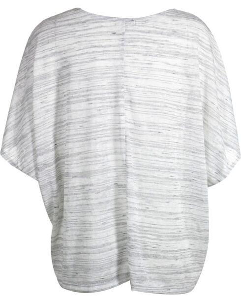 Petrol Women's Heathered Short Sleeve Poncho, Grey, hi-res