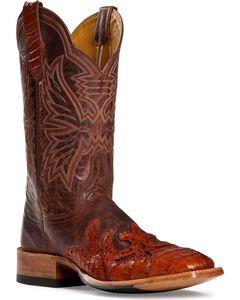 Cinch Classic Caiman Wingtip Cowboy Boots - Square Toe, , hi-res