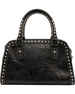 Blazin Roxx Floral Tooled Shoulder Bag, Black, hi-res