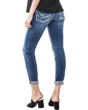 Silver Women's Sam Dark Wash Boyfriend Jeans, Indigo, hi-res