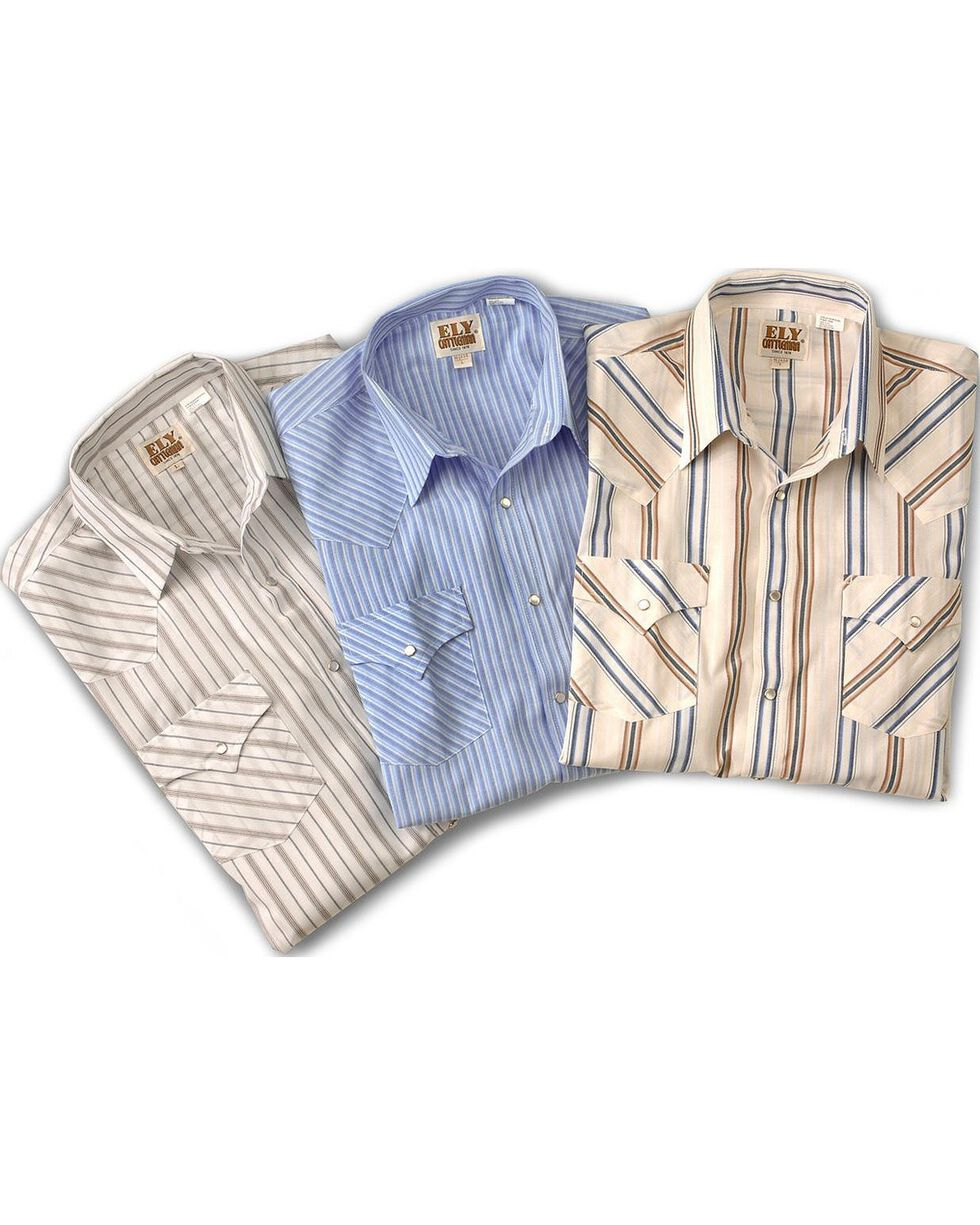 Ely Assorted Plaid or Stripe Long Sleeve Western Shirt, Stripe, hi-res