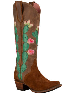Lane Women's Brown Junk Gypsy Hard to Handle Western Boots - Snip Toe , Brown, hi-res