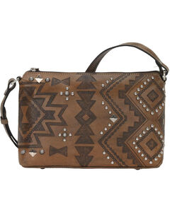 American West Women's Nomad Heart Purse , Distressed Brown, hi-res