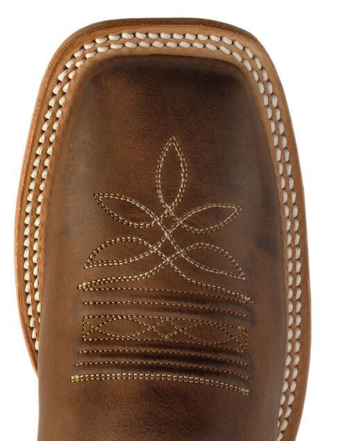 Justin Teal Bent Rail Cowgirl Boots - Square Toe, Chocolate, hi-res