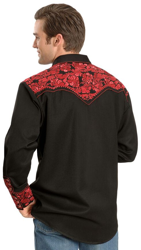 Scully Crimson Floral Embroidery Retro Western Shirt - Big & Tall, , hi-res