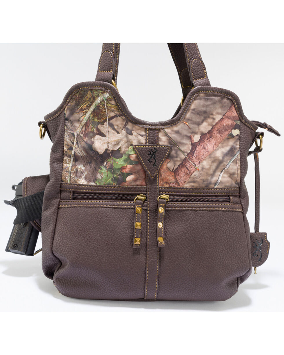 Browning Women's Carson Concealed Carry Handbag, Camouflage, hi-res