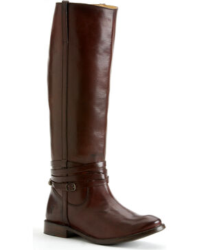 Frye Shirley Riding Plate Boots, Chocolate, hi-res