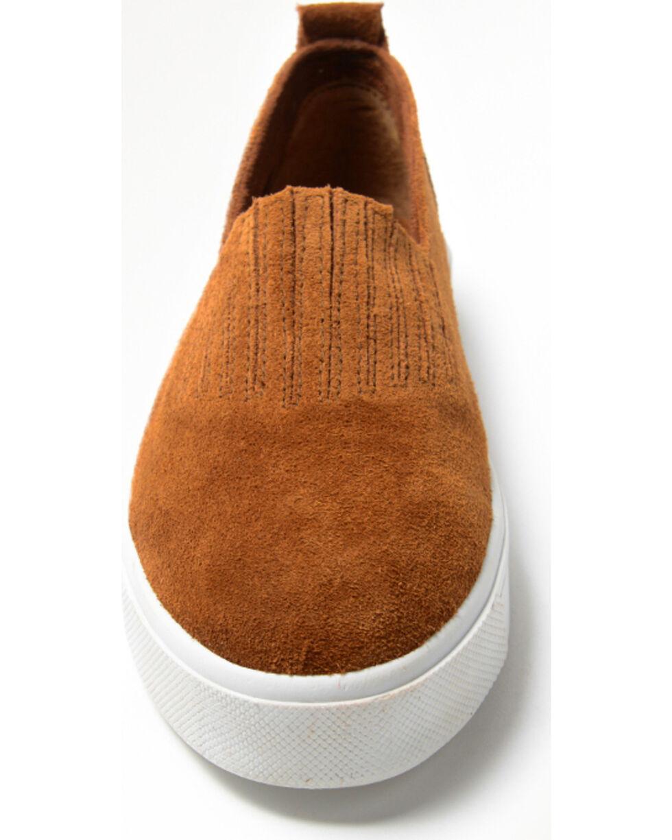 Minnetonka Women's Gabi Slip On Shoes - Round Toe, Brown, hi-res