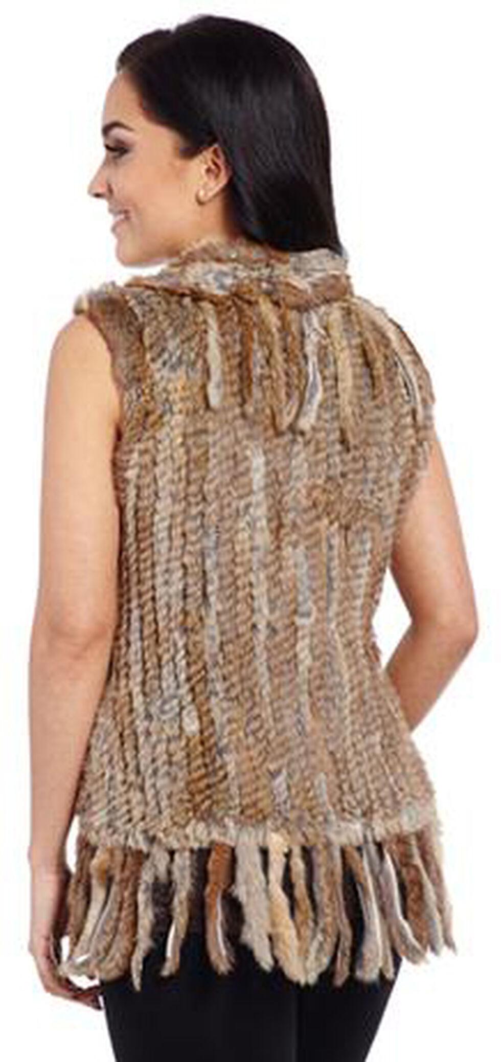 Cripple Creek Women's Faux Rabbit Fur Vest, Tan, hi-res