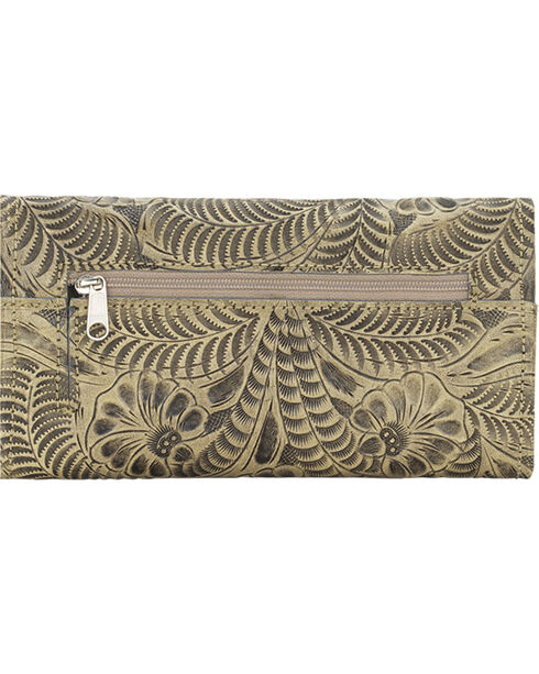 American West Women's Tri-Fold Wallet with Snap Closure, , hi-res