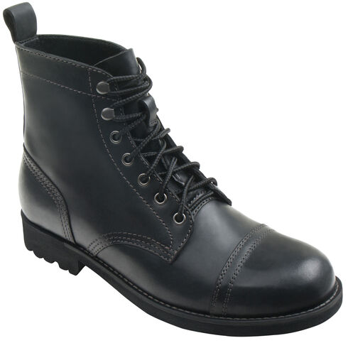 Eastland Men's Black Jayce Cap Toe Boots, Black, hi-res