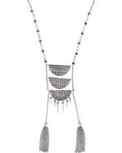Shyanne Women's Aztec Ladder Link Necklace , Silver, hi-res