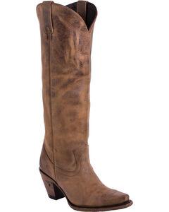 Lane Women's Julia Western Boots - Snip Toe , Brown, hi-res