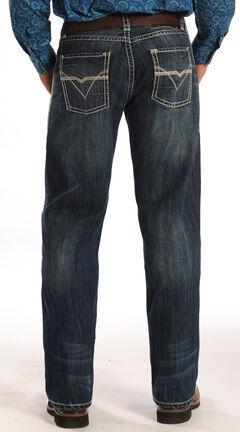 "Rock and Roll Cowboy Tuf Cooper Competition Fit ""V"" Pocket Jeans, , hi-res"