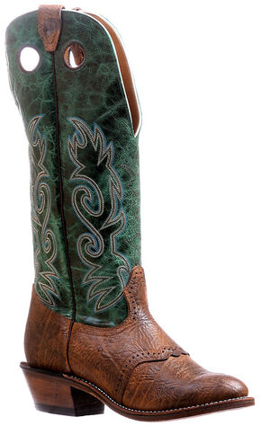 Boulet Buffalo Bill Matte Cowboy Boots - Round Toe , Brown, hi-res