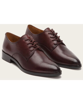 Frye Women's Bordeaux Erica Oxford Shoes - Pointed Toe , Wine, hi-res