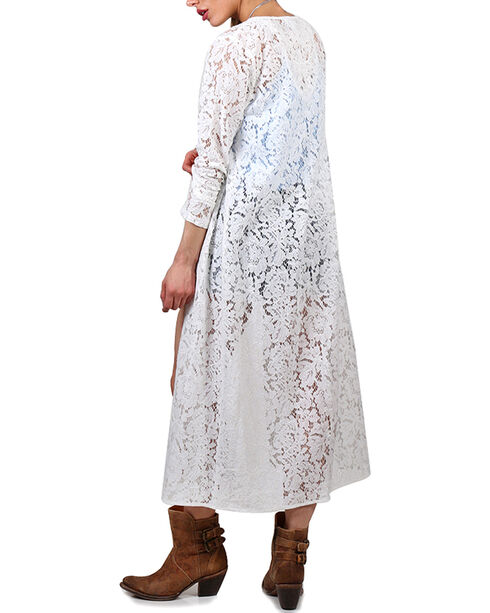 Shyanne Women's Lace Open Front Duster, Ivory, hi-res