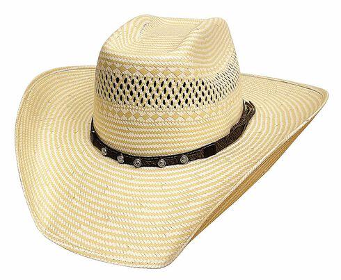 Bullhide Borrowed Time 50X Shantung Straw Cowboy Hat, Natural, hi-res