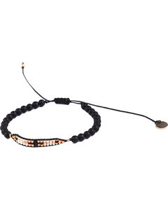Kutula Kiss Women's Valentina Gold Bracelet , Black, hi-res