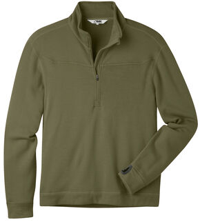 Mountain Khakis Men's Rendezvous Micro Quarter-Zip Shirt, Olive, hi-res