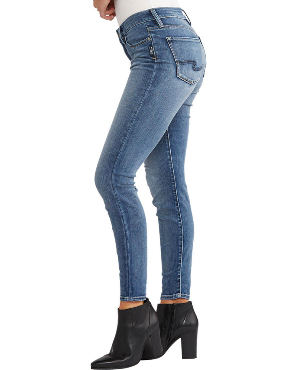 Silver Women's Bleecker Medium Wash Jeggings - Plus, Indigo, hi-res