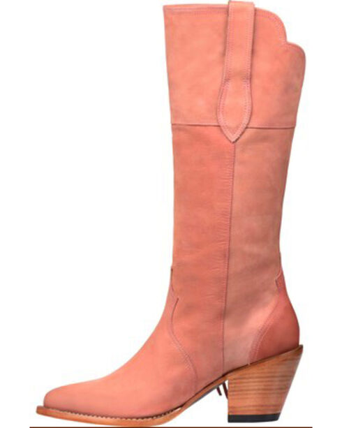 Lucchese Kacey Musgraves Gallop Suede Boots - Medium Toe, Pink, hi-res