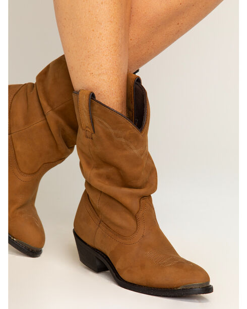 Shyanne Women's Brown Slouch Cowgirl Boots - Medium Toe, Brown, hi-res