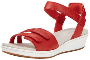 Ariat Women's Red Leisure Time Ankle Strap Sandals , Red, hi-res